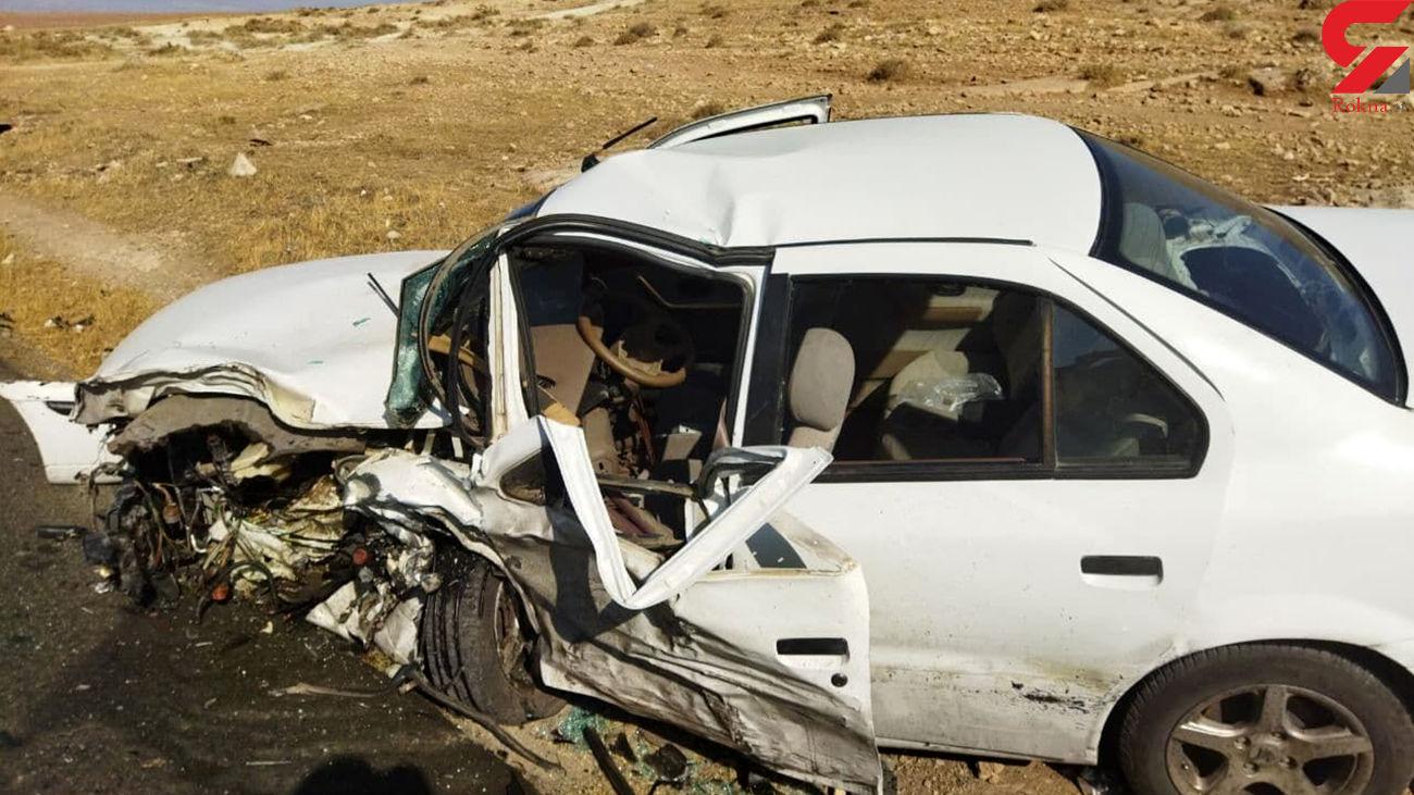 نجات معجزه آسای 7 زن و مرد از 2 خودروی مچاله شده / در اصفهان رخ داد