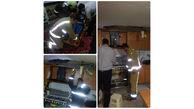 انفجار  هولناک در پرند / سقف آشپزخانه فرو ریخت + عکس