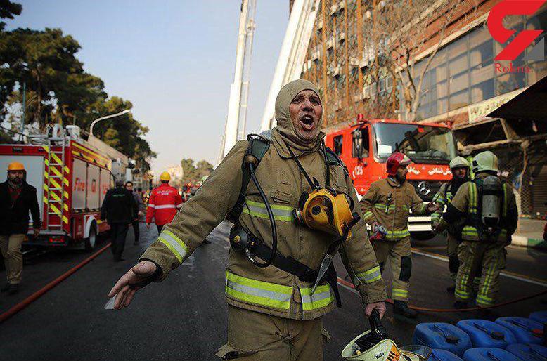 300 تن در زیر آوار ساختمان پلاسکو محبوس شدند + فیلم