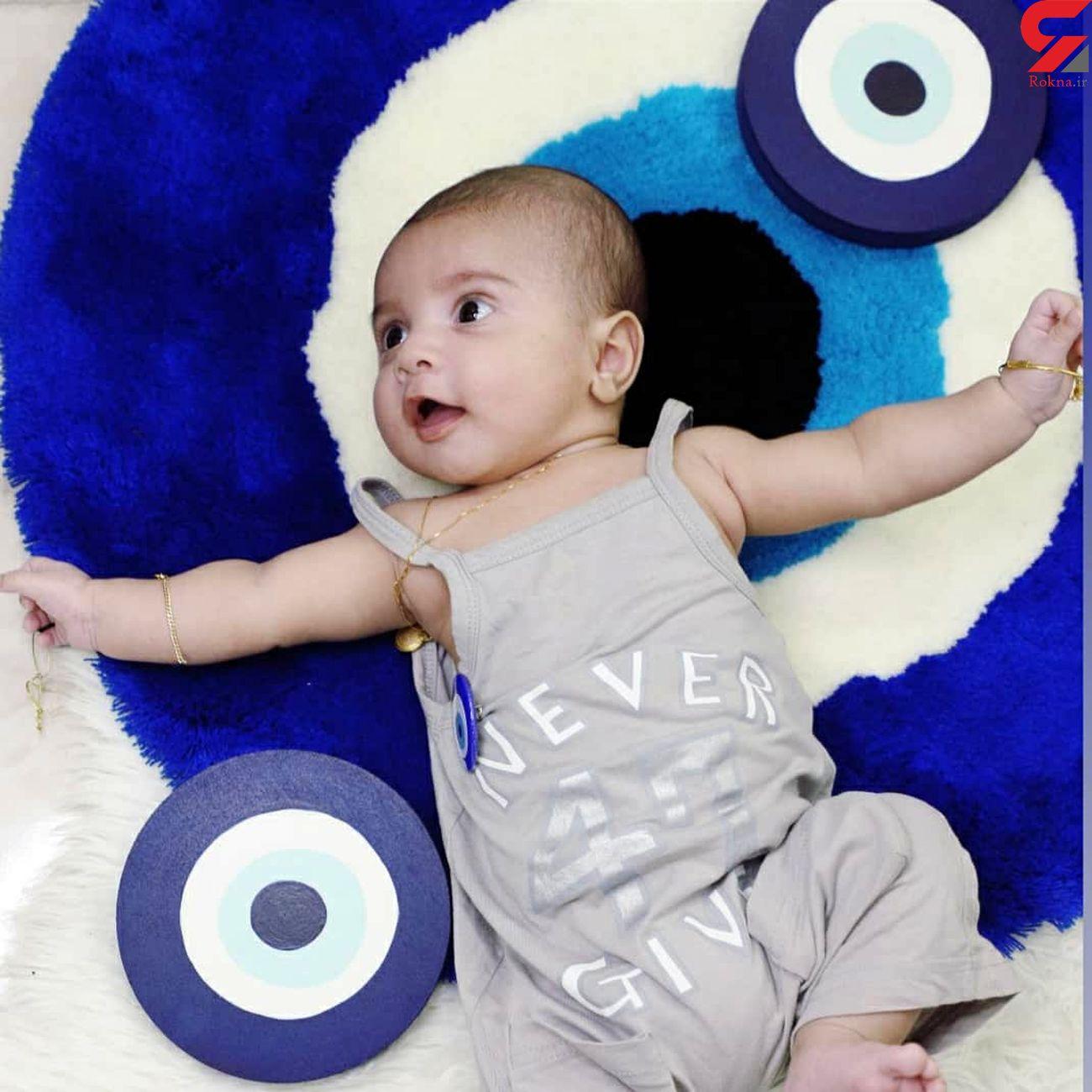 مهرسام 6 ماهه کجاست ؟  کودک اهوازی را با خودروی پدرش دزدیدند + عکس