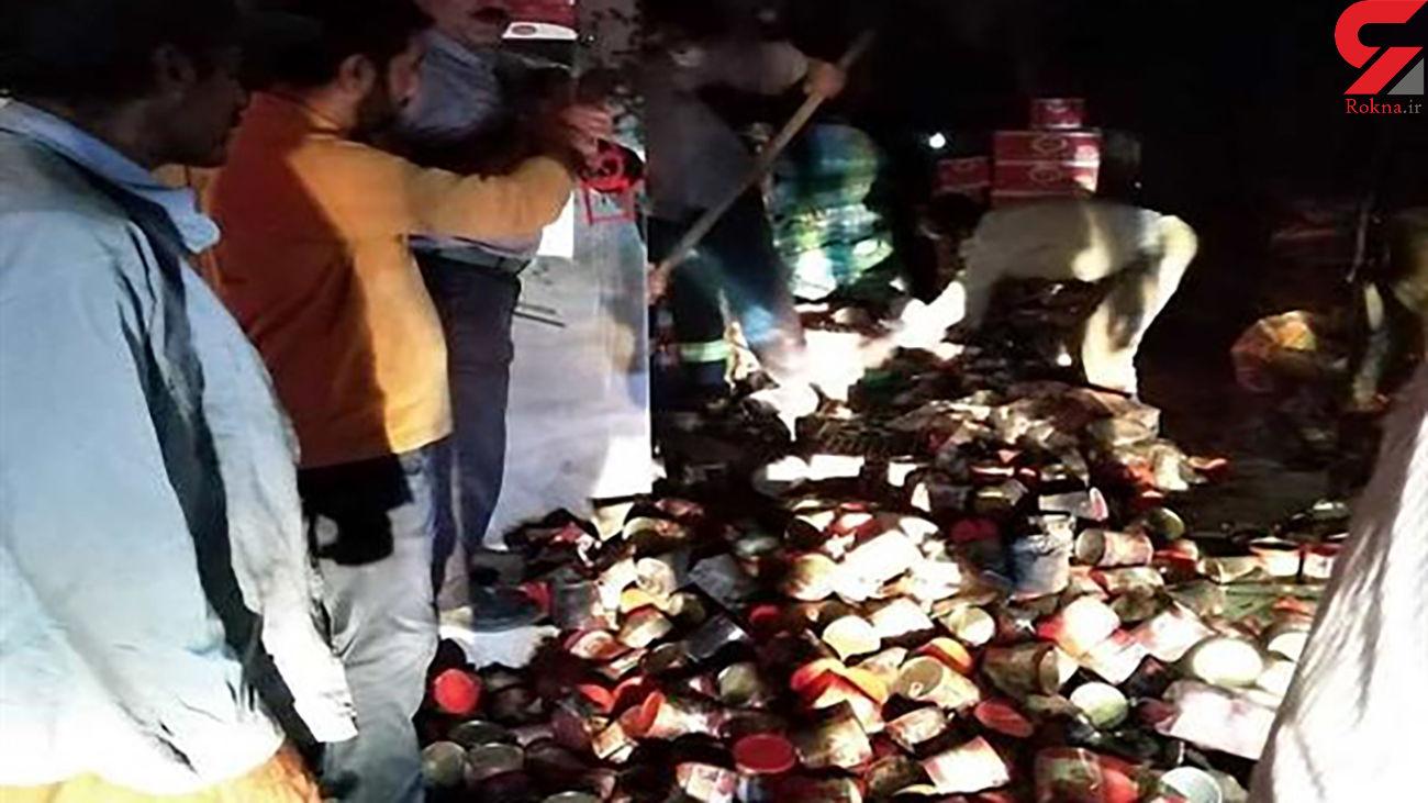 آتش سوزی هولناک در خیابان عمده فروشان شهر یاسوج