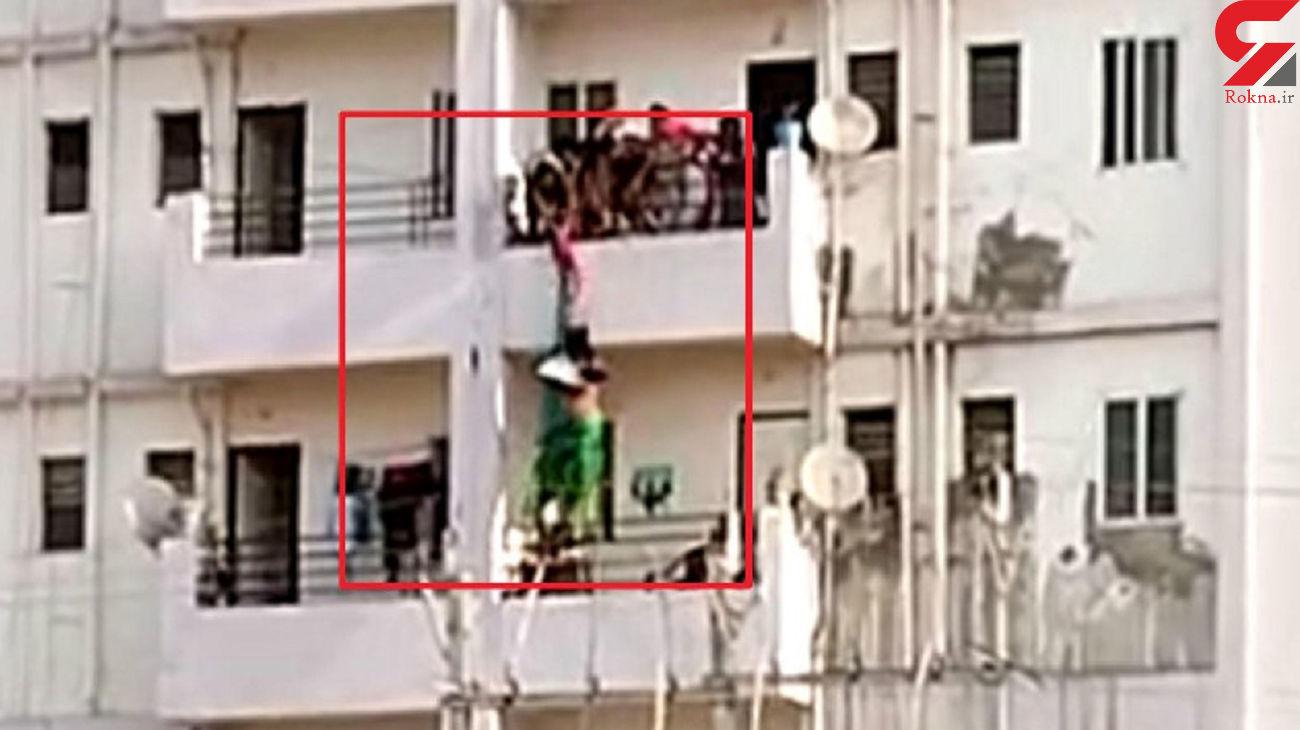 فیلم لحظه خودکشی یک دختر! / خانواده اش در صحنه بودند
