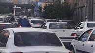 وضعیت ترافیک در معابر تهران در روز دوشنبه 28 تیر
