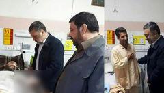 بازدید سرزده فرمانده ناجا از مجروحان درگیری شب گذشته پلیس مشهد+عکس