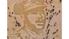 نقاشی قهرمانان جنگ در ساحل بریتانیا