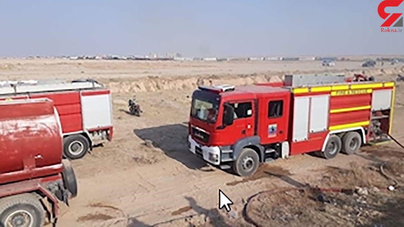 مهار آتش سوزی در پایانه مرزی زرباطیه عراق