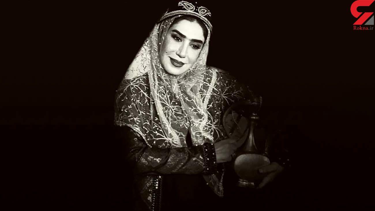 نسیم ادبی با پوشش قجری + عکس