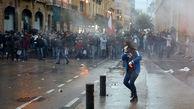 بازداشت یک آمریکایی و ۱۴۵ مجروح در اعتراضات بیروت+عکس