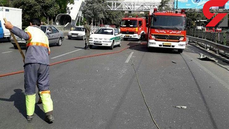 ۲ کشته و ۳ زخمی حاصل تصادف خودروی ساندرو در اتوبان تهران ــ قم