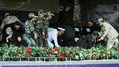 تصویر جایگاه رژه امروز اهواز در لحظه حمله تروریستی +فیلم