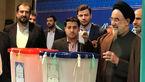 عکس / سید محمد خاتمی رای خود را به صندوق انداخت