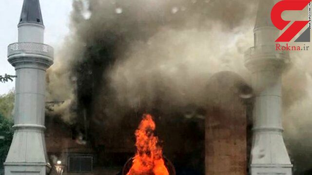 آتش سوزی عمدی یک مسجد در آمریکا توسط افراد ناشناس واکنش چاووشاوغلو را در بر داشت
