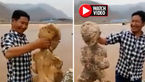 پیدا شدن موجود انسان نمای عجیب در سواحل چین! +فیلم