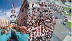 سقوط مرگبار از برج انسانی+ عکس