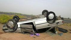 واژگونی خودرو 405 با ۱۰ سرنشین در گلستان