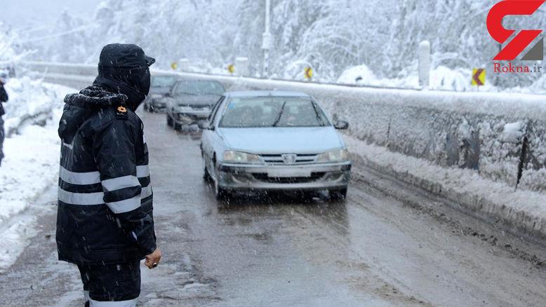ترافیک نیمه سنگین در آزادراه قزوین -کرج-تهران/بارش برف و باران در اکثر نقاط کشور