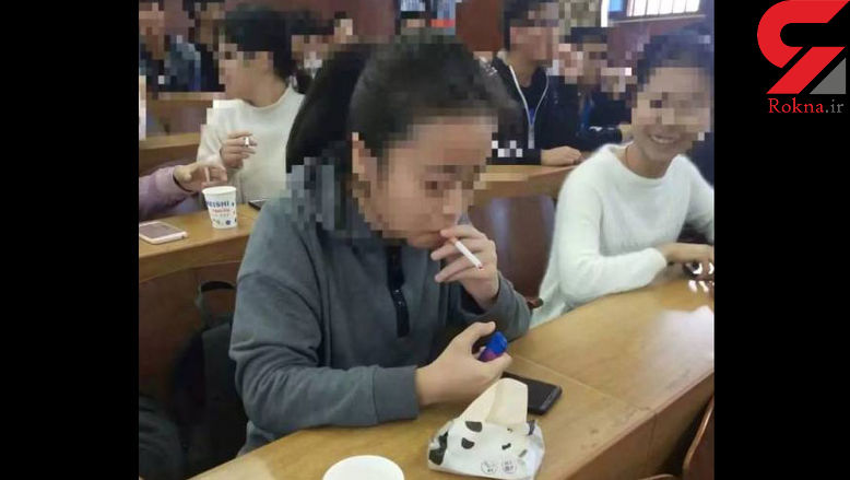 سیگار کشیدن و استفاده از موبایل در کلاس های این دانشگاه آزاد است !+عکس