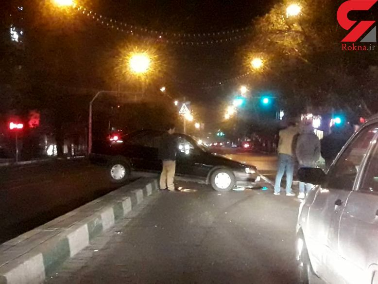صحنه ی عجیب ترین تصادف در وسط خیابان/عکس