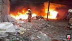 آتش سوزی انبار گونی در شهر ری + عکس