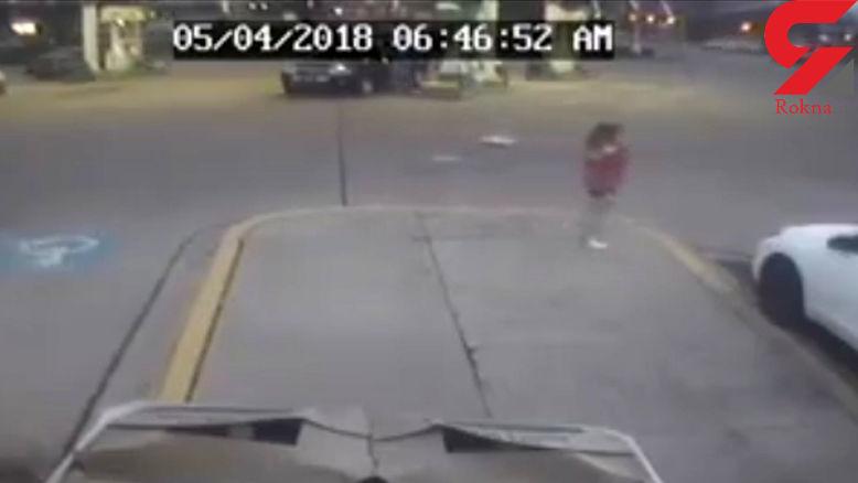 فرار وحشتناک دختر 11 ساله از دست دزدان ماشین پدرش! + فیلم