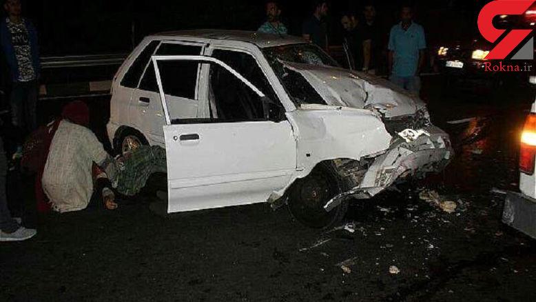 برخورد اتوبوس با پراید مسافران به وحشت افتادند/ 5 نفر روانه بیمارستان مشهد شدند