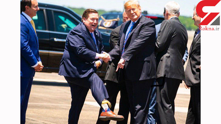 طرح دونالد ترامپ روی جوراب