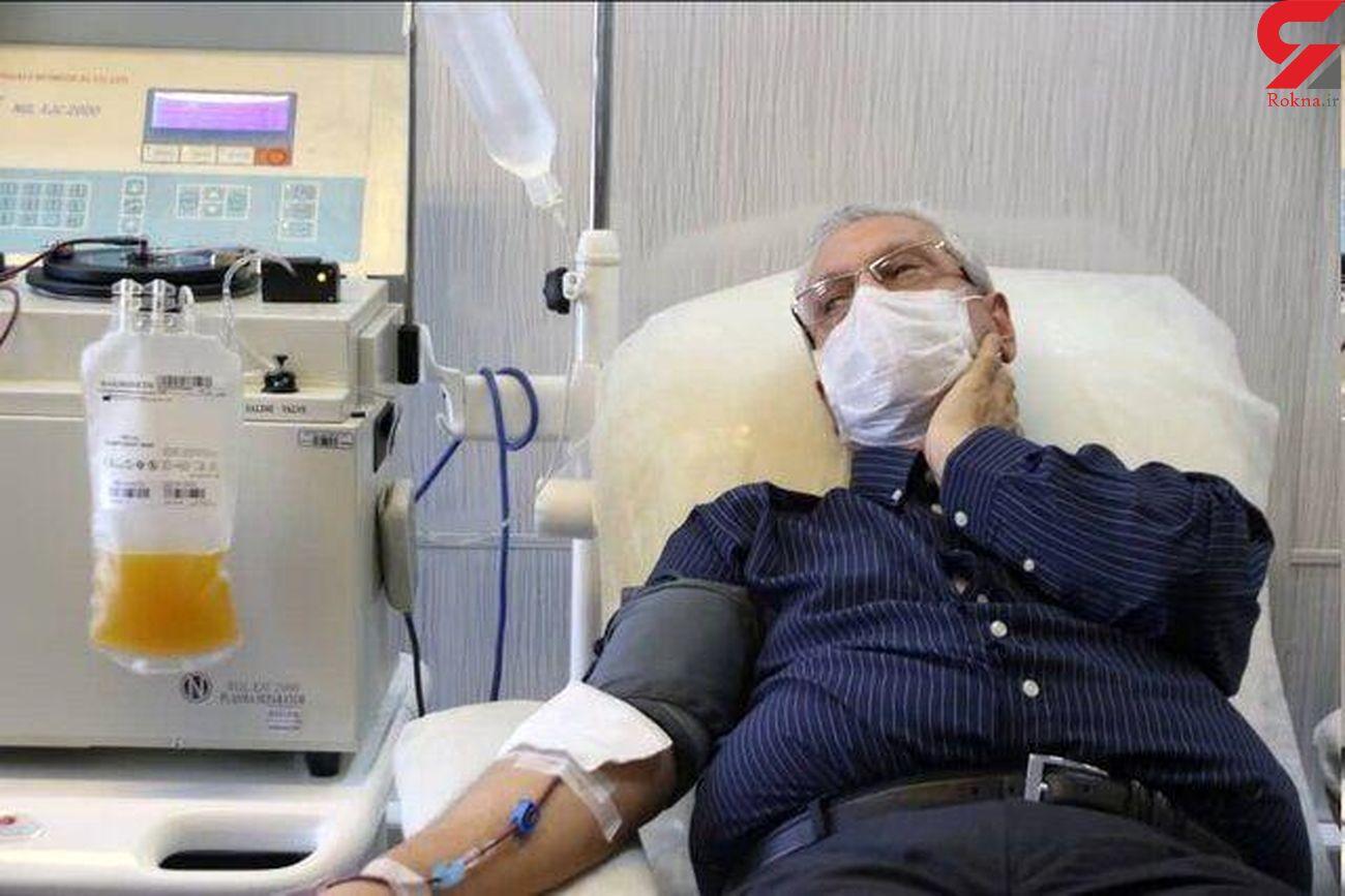 اهدای پلاسمای خون از سوی ربیعی پس از بهبود کرونا + عکس