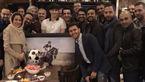 خانم بازیگر ایرانی  آقای فوتبالیست را غافلگیر کرد!+فیلم