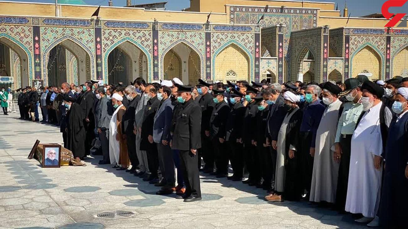 پیکر مرحوم حیدر رحیمپور ازغدی در حرم امام رضا(ع) تشییع و خاکسپاری شد