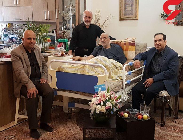 عیادت رئیس سازمان سینمایی از جمال شورجه در روز ملی سینما