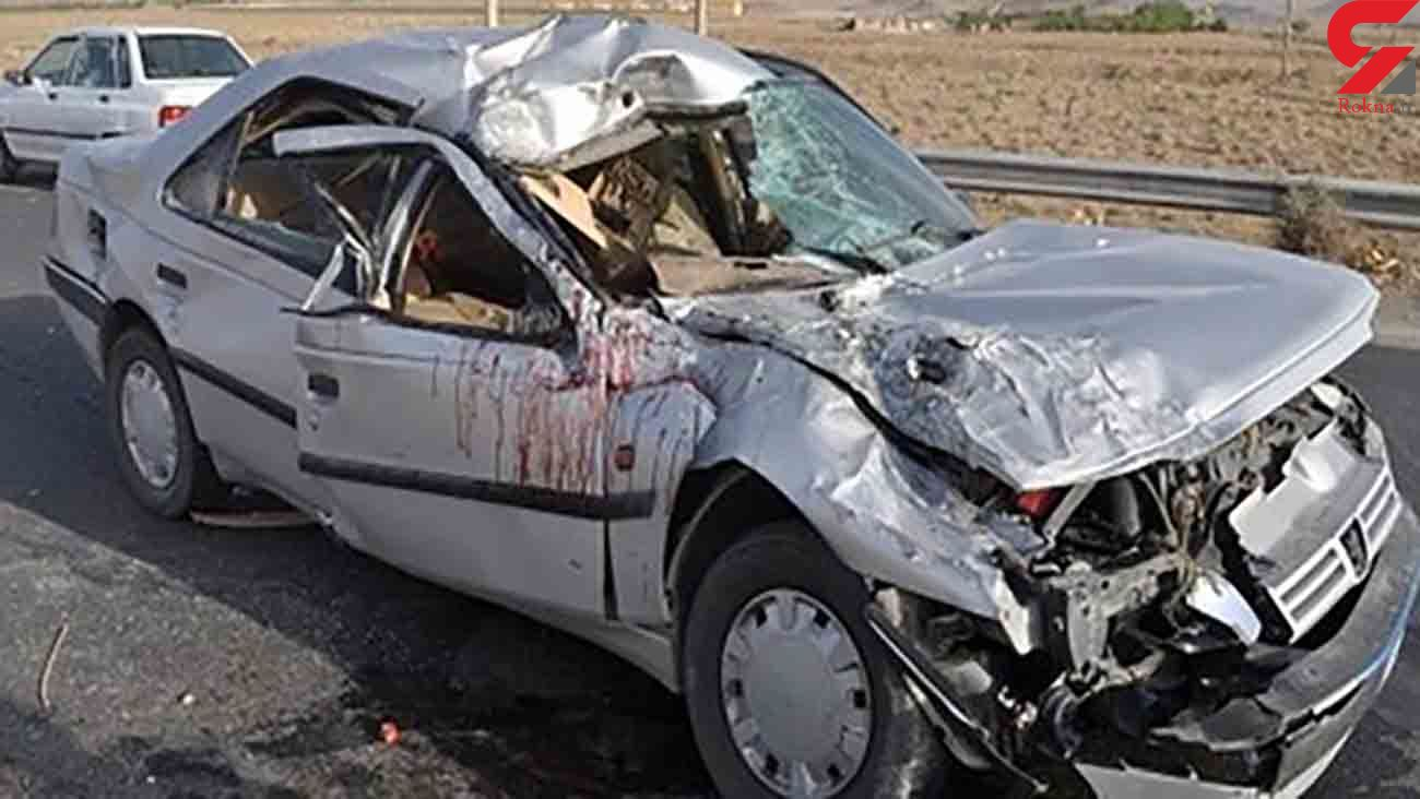 شاخ به شاخ مرگبار 2 پژو در خوزستان