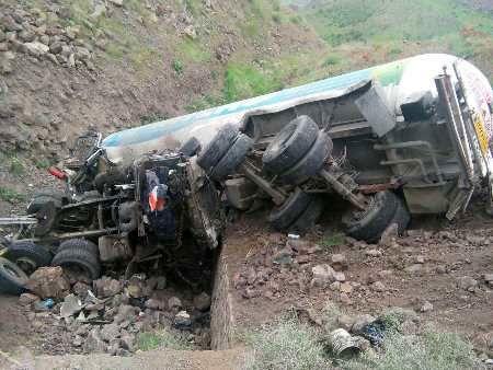سقوط مرگبار تانکر سوخت به دره
