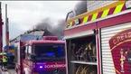 فیلم آتش سوزی هولناک در پارک صنعتی در اسپانیا