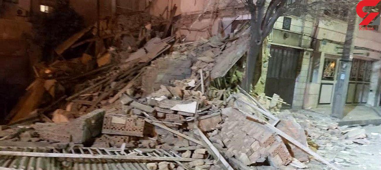 تخریب ساختمان ۳ طبقه در بزرگراه امام علی (ع) + تصاویر