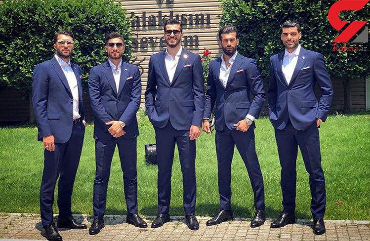 اشتباهات عجیب فوتبالیست های خوشتیپ ایرانی در پوشیدن کت و شلوار؟ + عکس