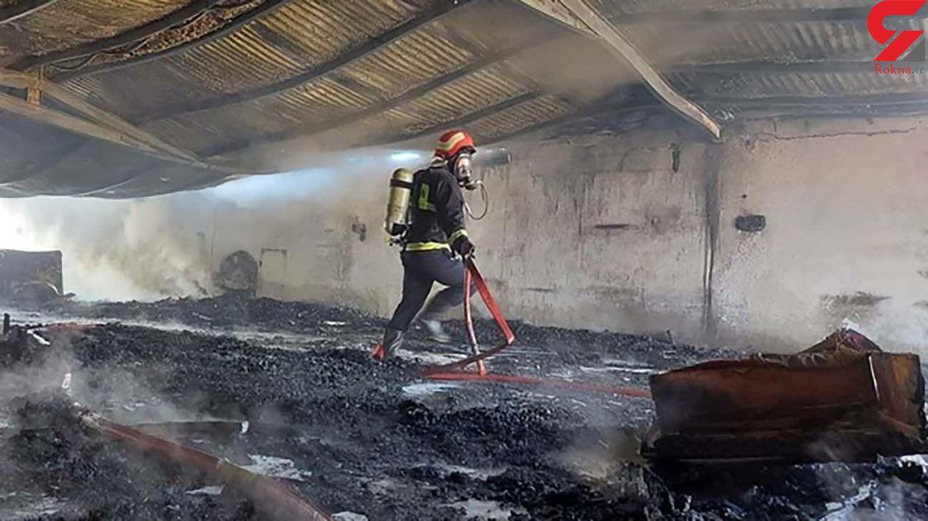 آتش سوزی هولناک در مغازه نجاری در قزوین