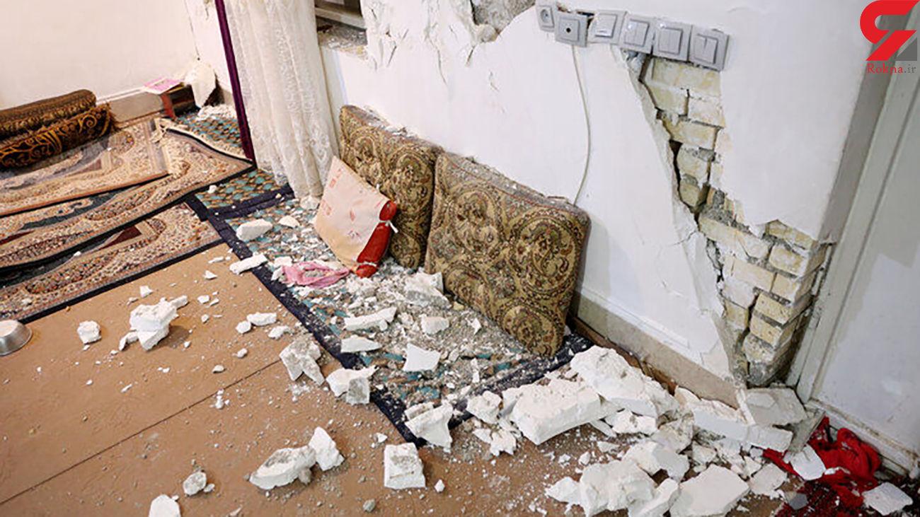 زلزله موجب ترک خوردگی برخی منازل روستایی در کالپوش میامی شد