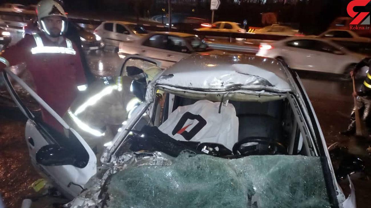 4 عکس از مرگ دختر 20 ساله در وسط بزرگراه بابایی تهران + فیلم