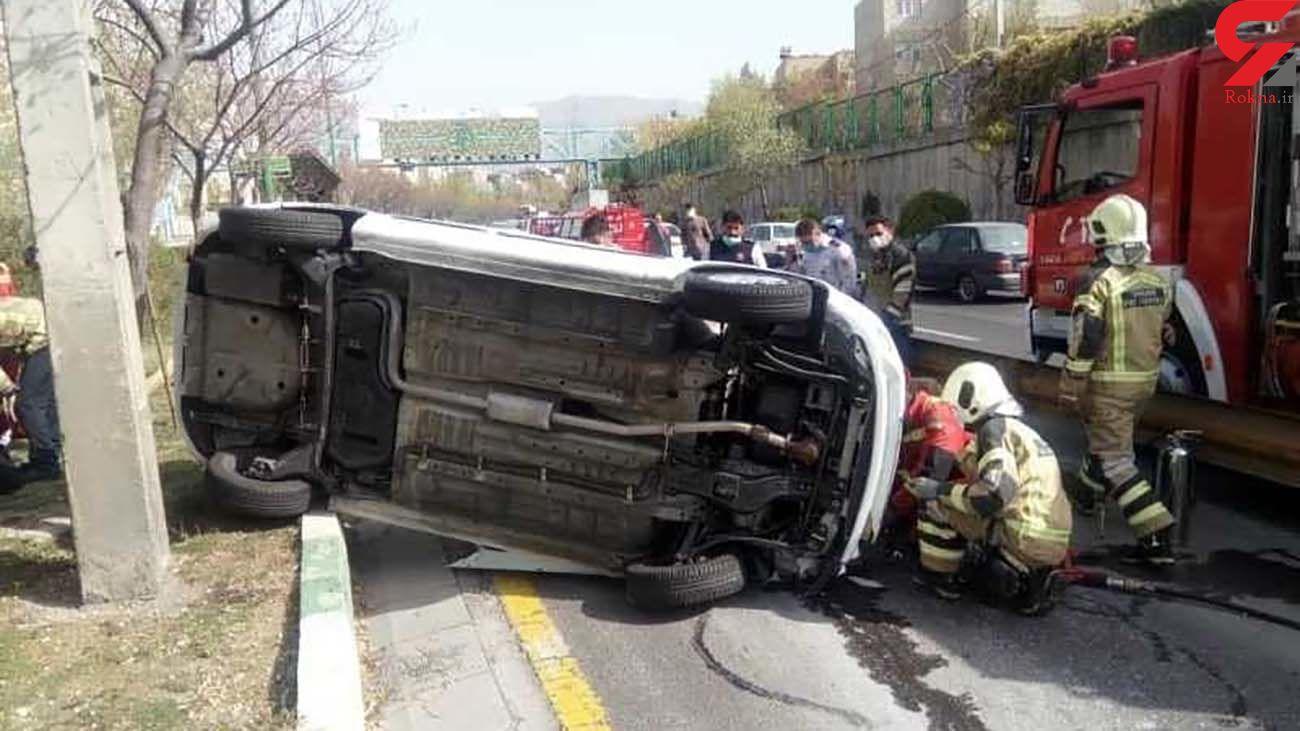 5 عکس از حادثه در اتوبان امام علی (ع)