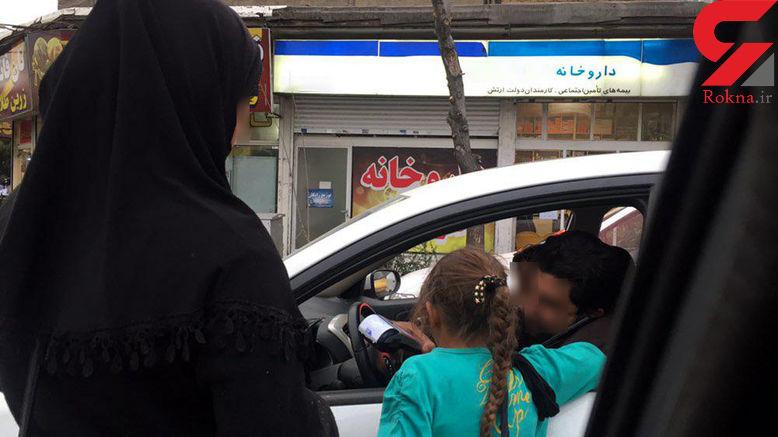 عکس هایی تکاندهنده از زنی گدا که دستگاه کارت خوان دارد / هشدار پلیس فتا + جزییات