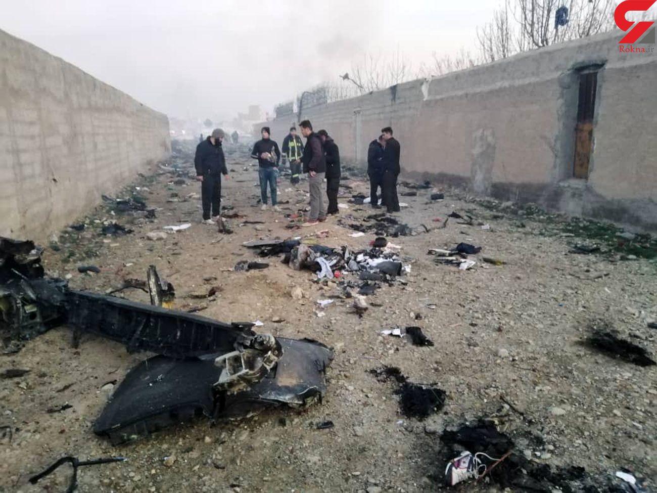 اولین عکس ها از سقوط بوئینگ 737 مسافری اوکراینی در جنوب تهران + فیلم