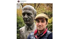 بازیگر مرد در کنار مهم ترین روشنفکر ایرانی