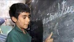 کوچک ترین مدرسه دنیا با مدیری 12 ساله اداره می شود+عکس