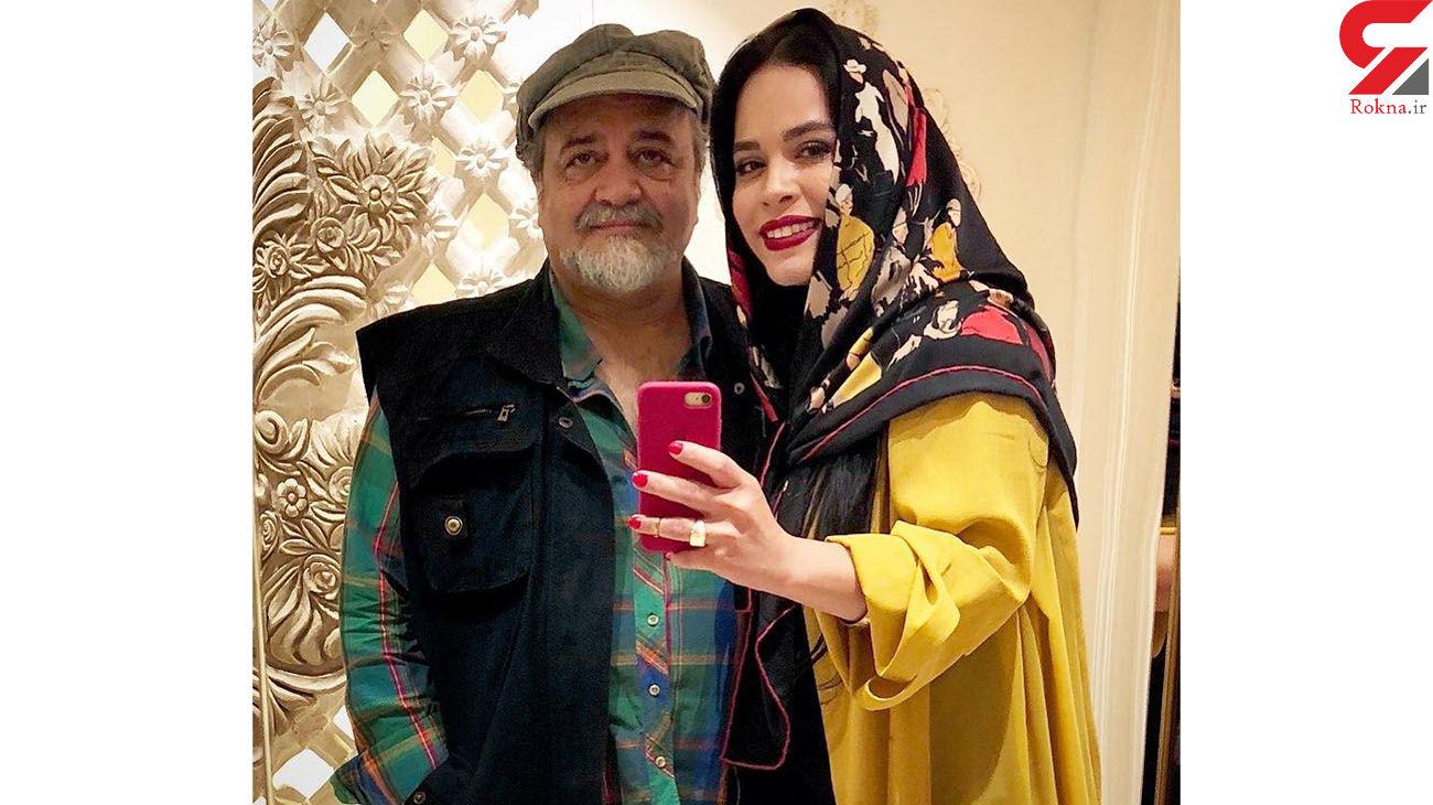 ملیکا شریفی نیا در کنار بهترین معلم خوشتیپ زندگی اش + عکس