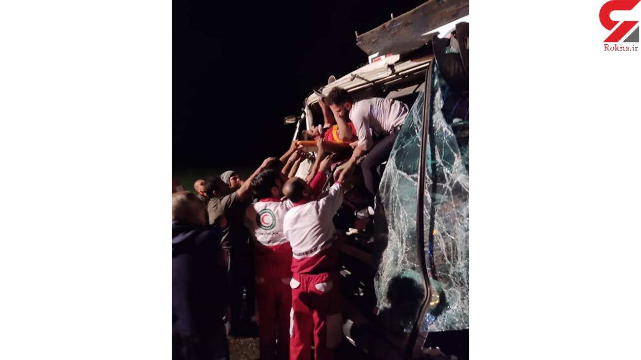 تصادف 2 کامیون در کردستان + عکس