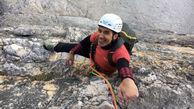 فیلم و تصاویر باور نکردنی از صعود صخره نورد یک دست ایرانی از صخره های آلپ