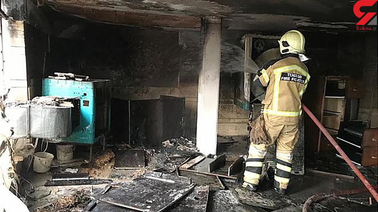 عکس های آتش سوزی در پارکینگ تجاری میدان ولیعصر