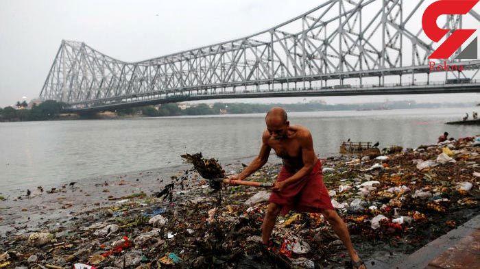 رود مقدس هندوها دومین رودخانه آلوده جهان + تصاویر