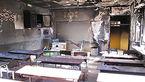 آتش سوزی  در یک مدرسه روستایی/  25 دانش آموز به مخاطره افتادند