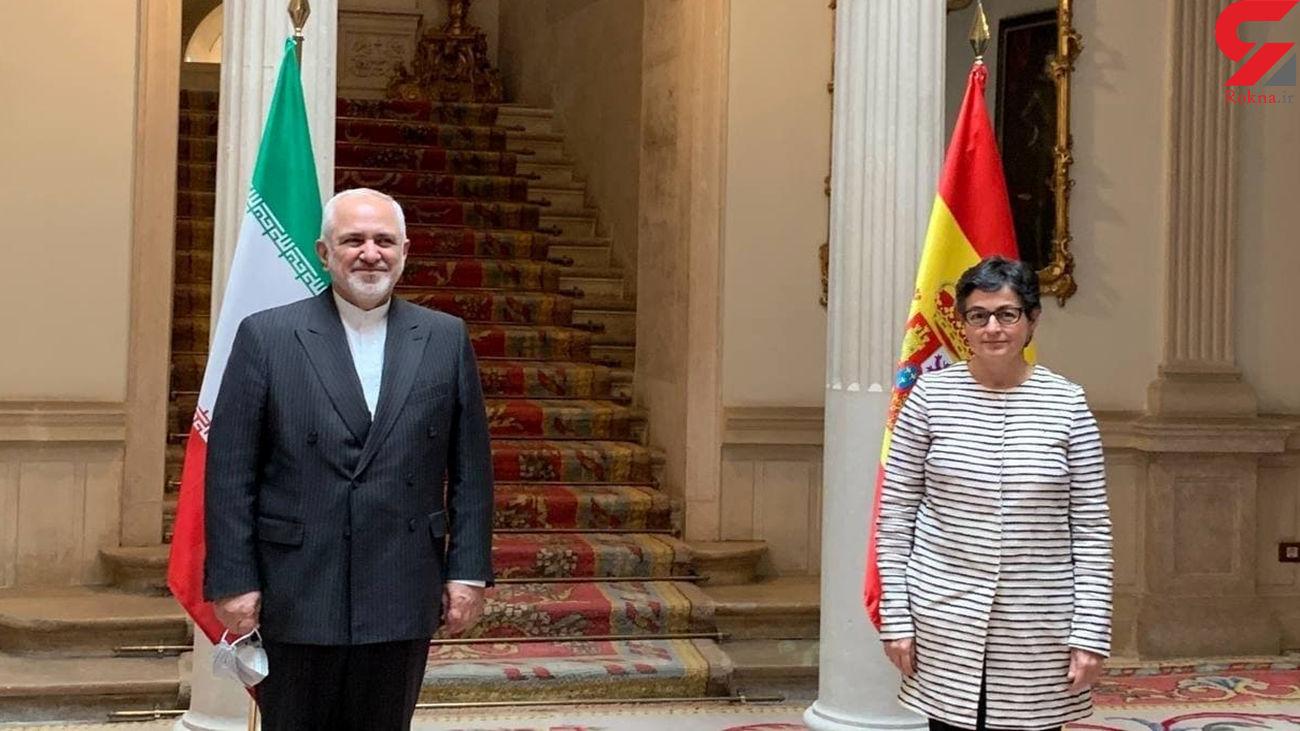 دیدار ظریف با وزیر امور خارجه اسپانیا / او هم اکنون در مادرید است
